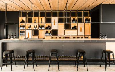 winery in santorini island: interior design