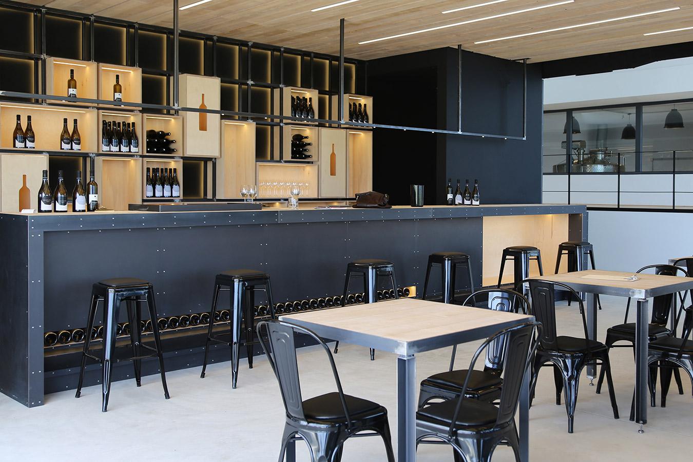 Winery in santorini island interior design